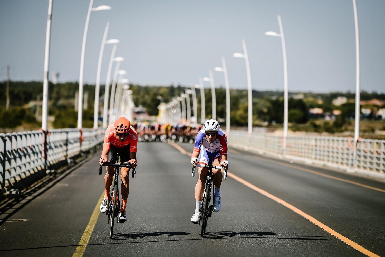 Na začetku etape sta nas zabavala Stefan Küng (Groupama-FDJ) in Michael Schär (CCC Team)