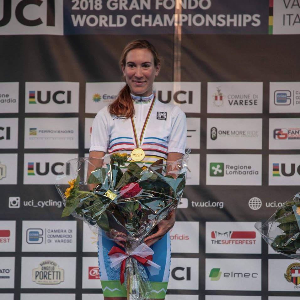 V Vareseju je leta 2018 na amaterskem svetovnem prvenstvu drugič zmagala v kronometru ... in lani ubranila majico na Poljskem.
